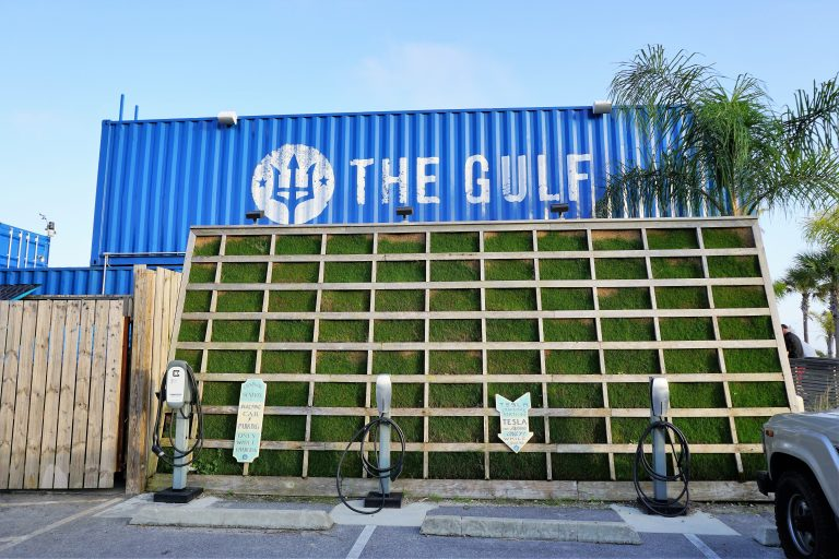 The Gulf Restaurant - made out of shipping containers