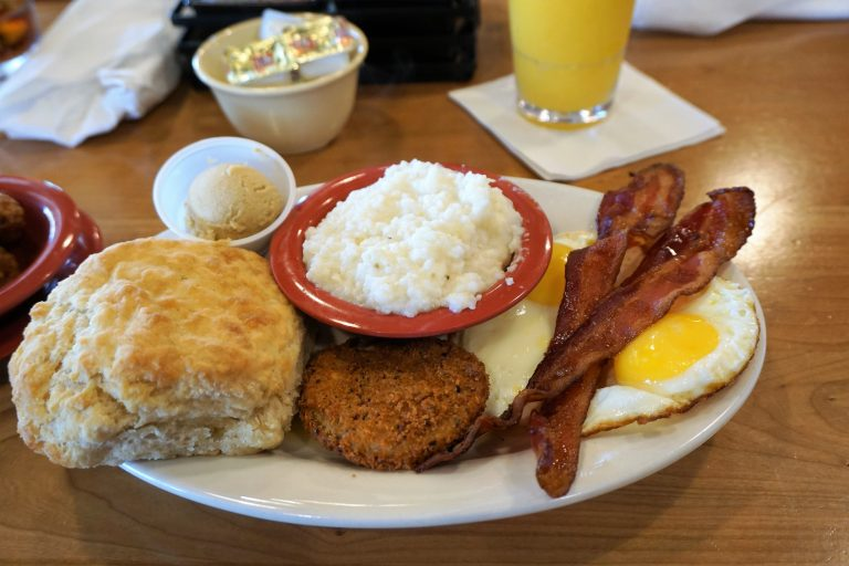 Breakfast platter at The Ruby Slipper in Orange Beach