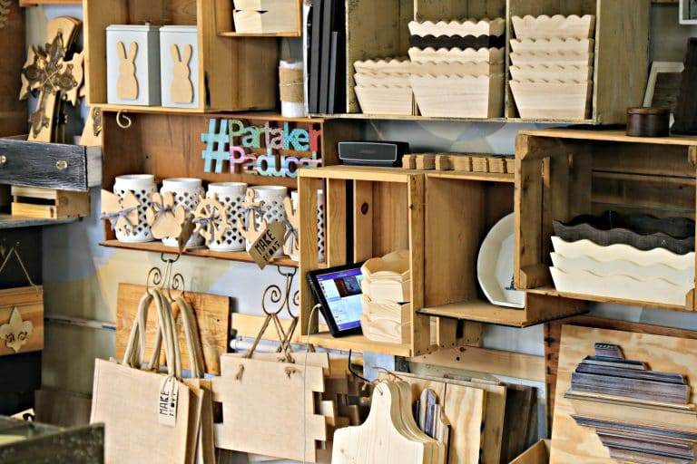 Wooden craft supplies at MAKE