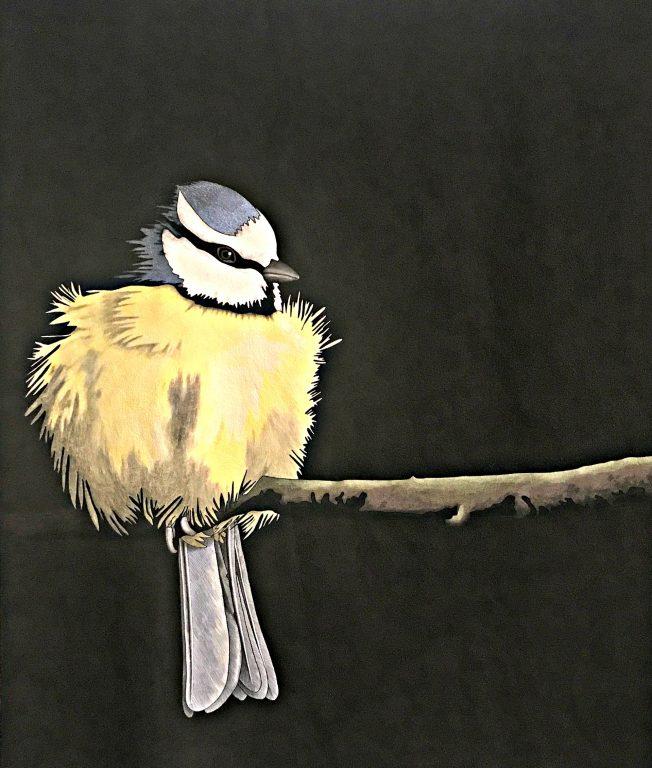 Quilt with bird
