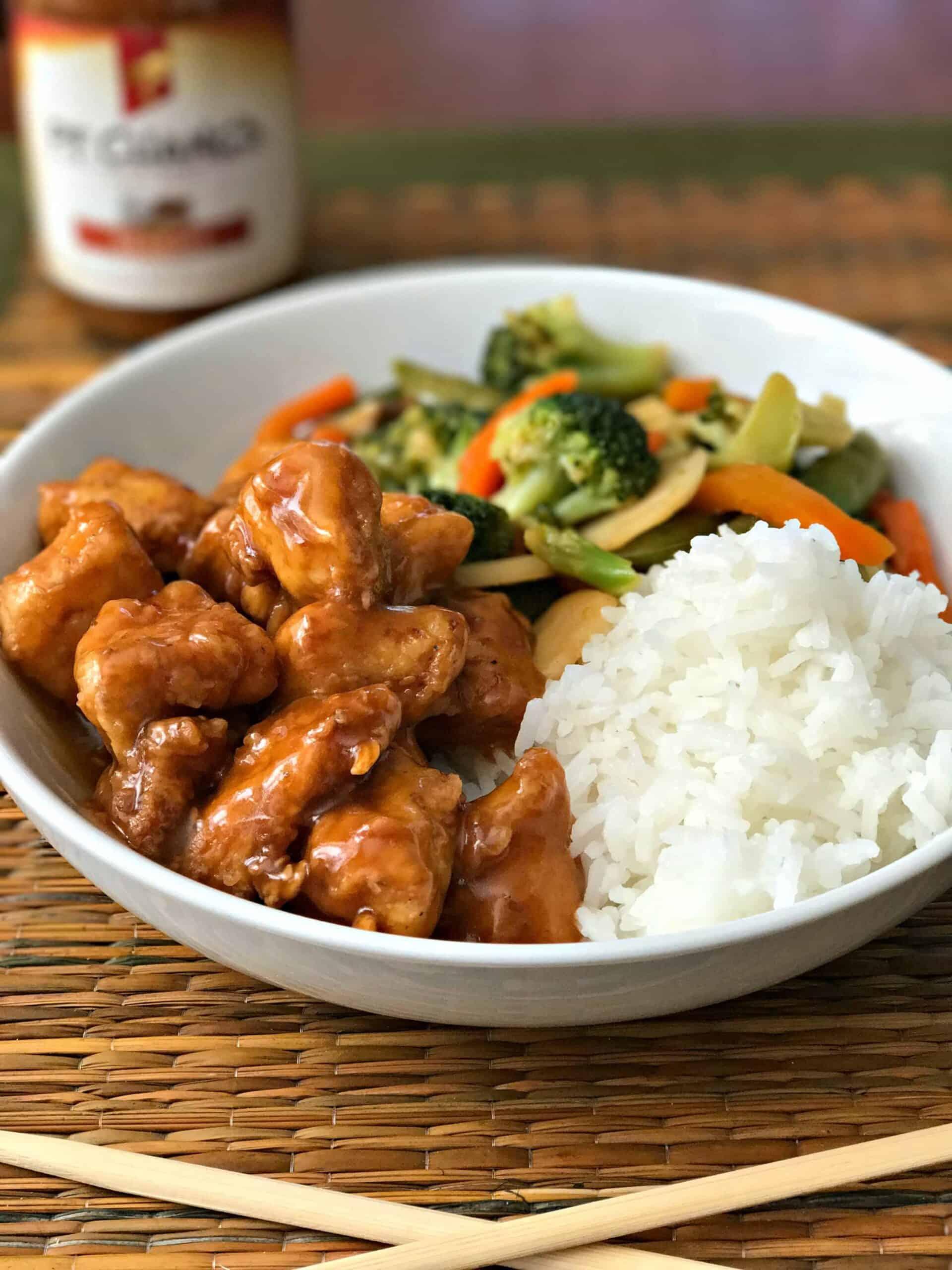 sesame chicken dinner