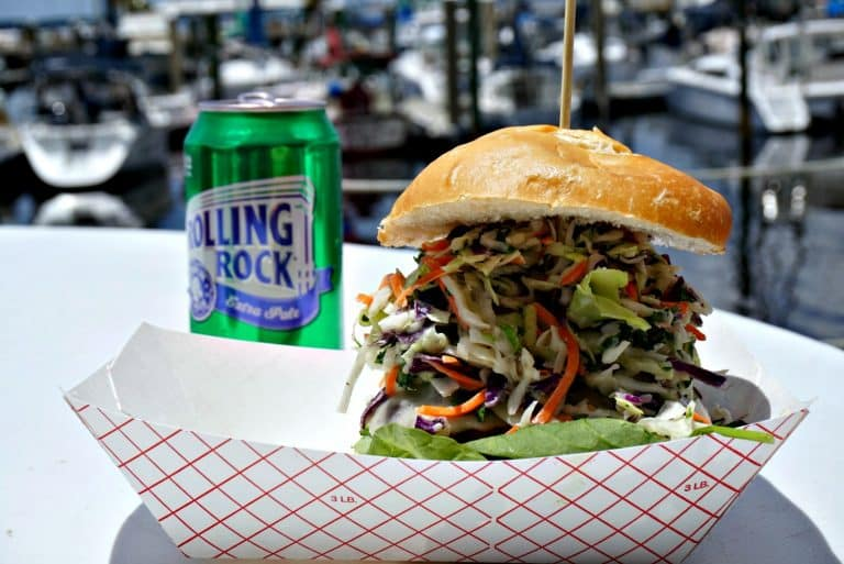 Cilantro Slaw Burger at Just the Cook