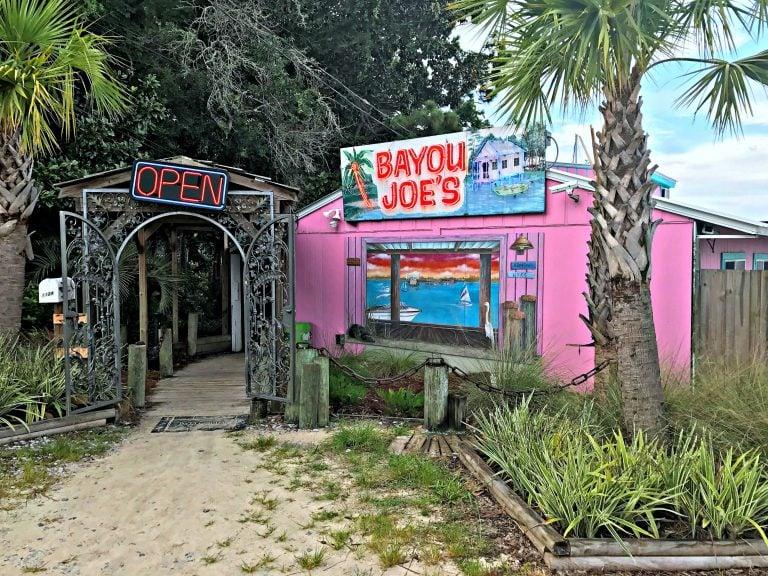 Bayou Joe's entrance