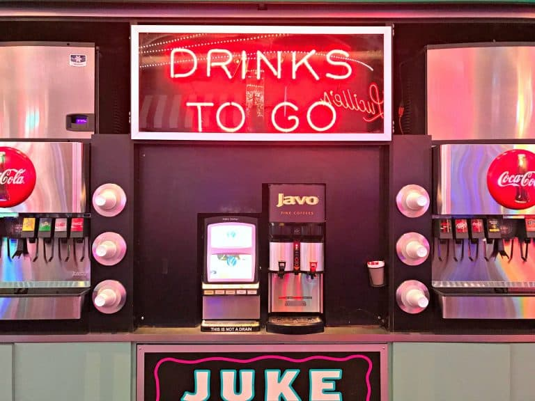 The drink station at the casino