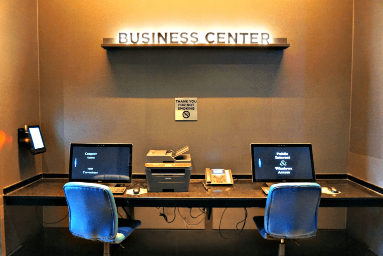 The self-service business center