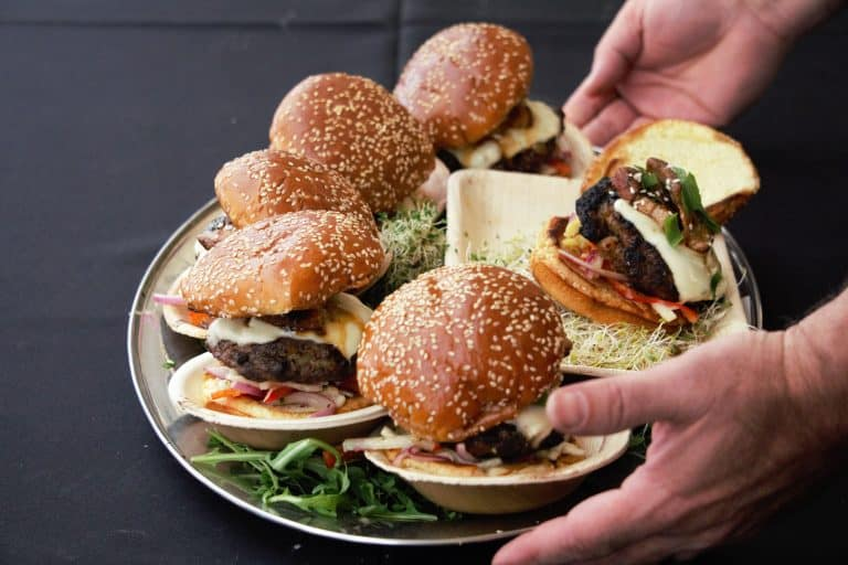 plate of burgers