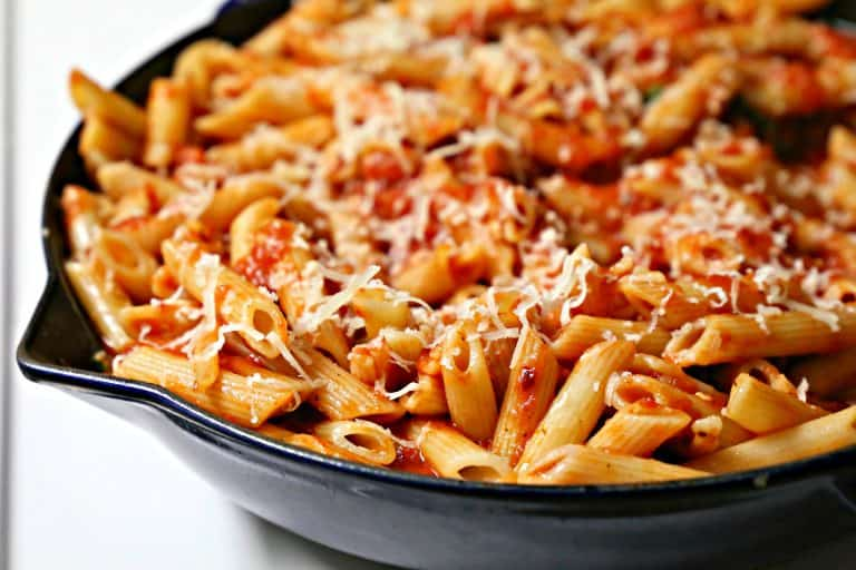 Pan of Spicy Arrabiata Penne