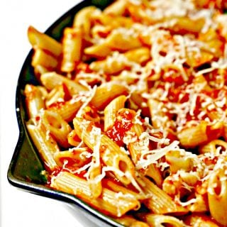 pasta in a skillet