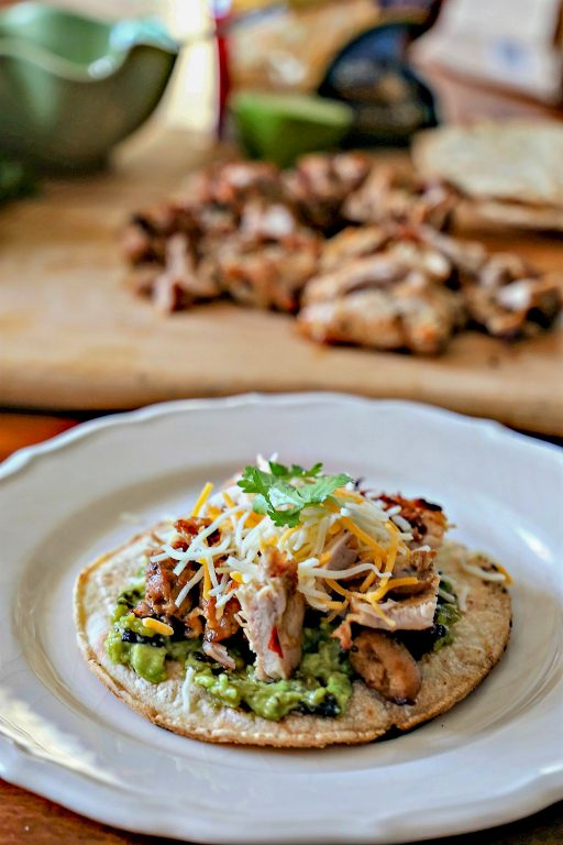 Grilled Chicken Tostadas on a plate