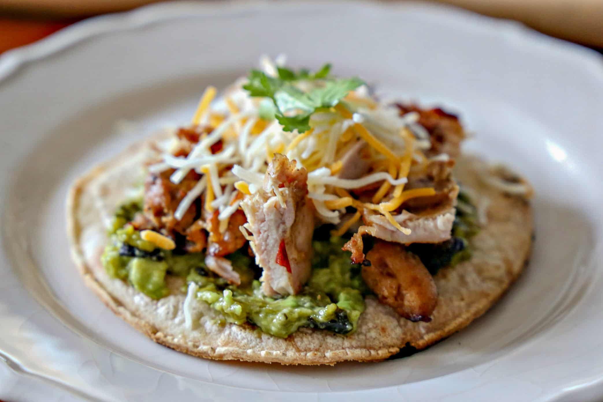 tostada with toppings