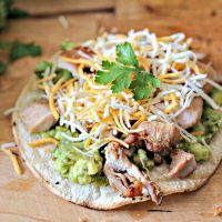 Grilled Chicken Tostada With Roasted Poblano Guacamole