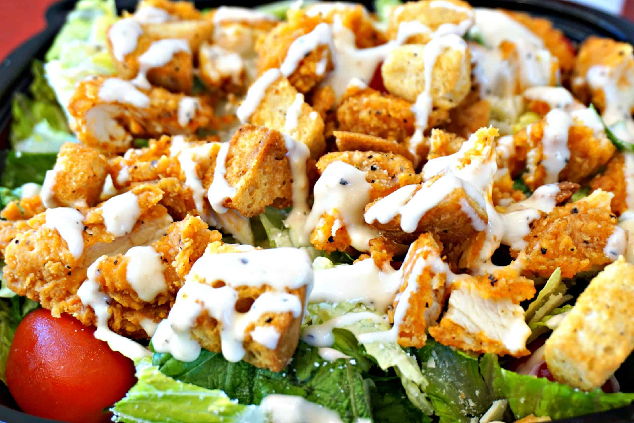 WWendys Spicy Caesar Salad