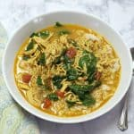bowl chicken curry soup