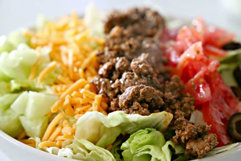 Close up of Doritos Taco Salad