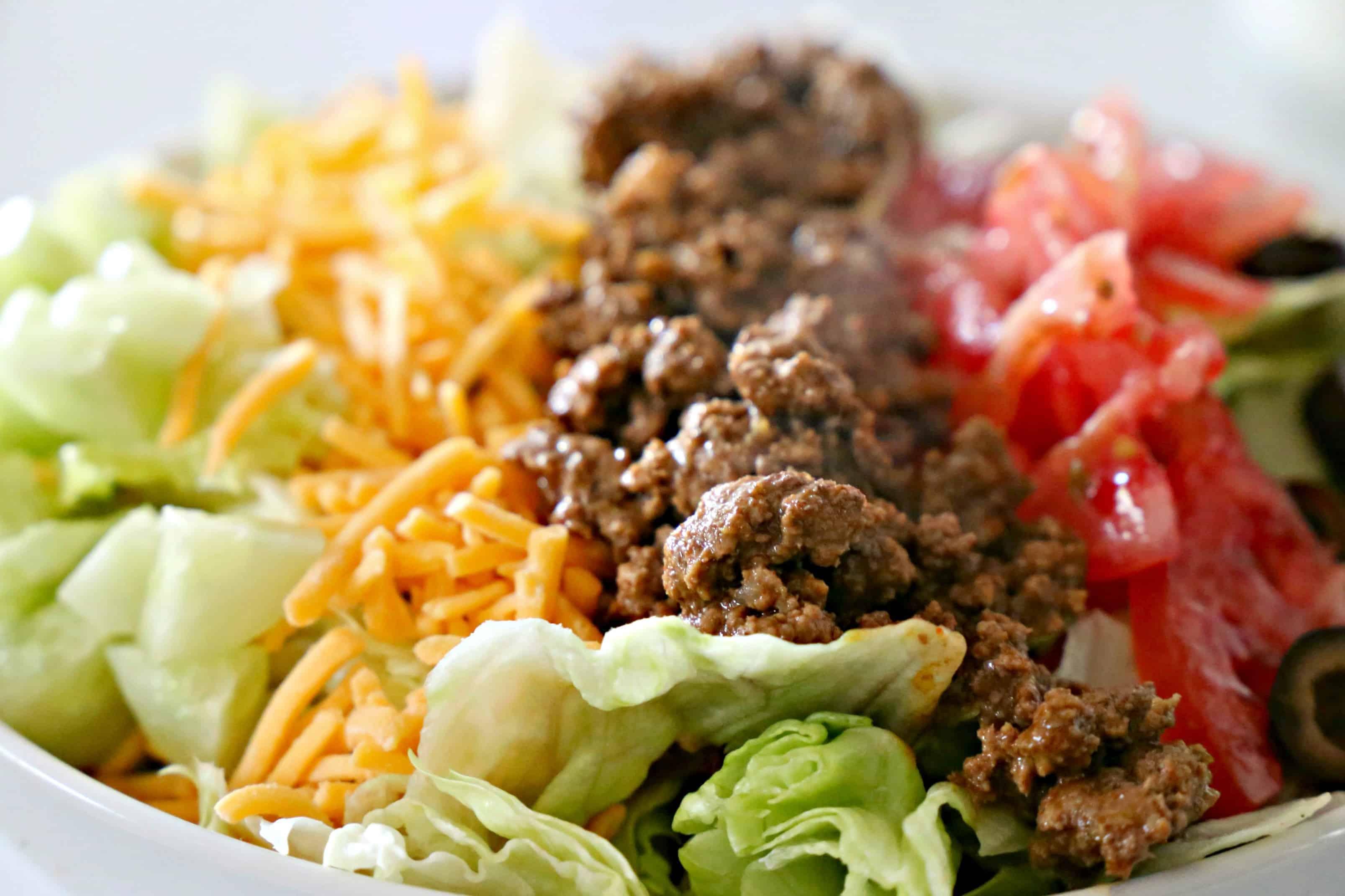 Close up of Doritos Taco Salad