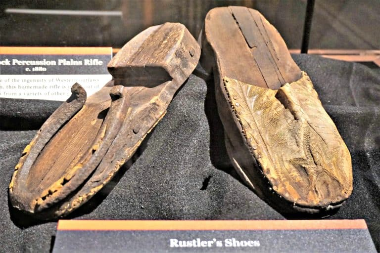 Rustler's shoes on exhibit at Alcatraz East