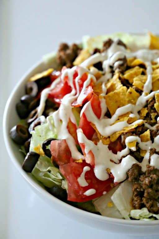 bowl of Cool Ranch Doritos Taco Salad