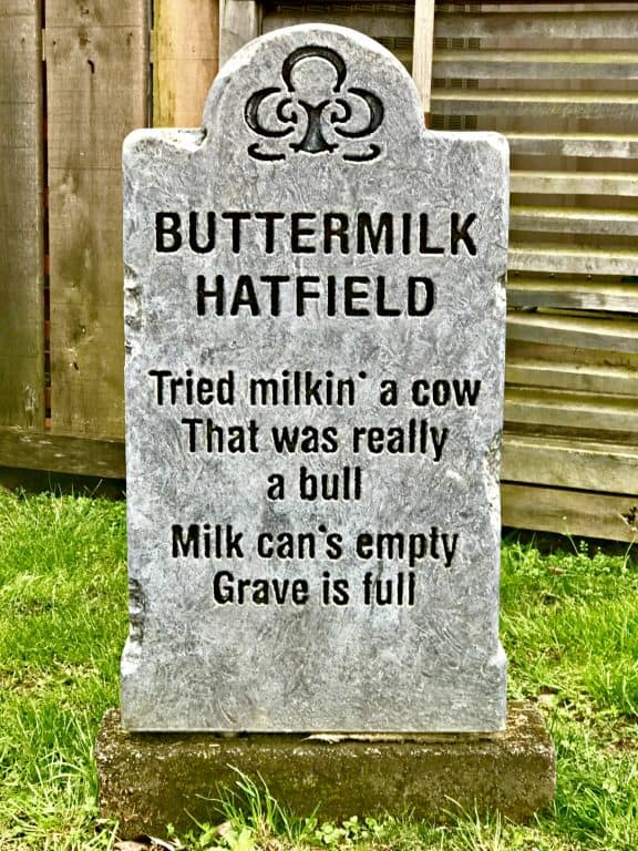 Buttermilk Hatfield tombstone