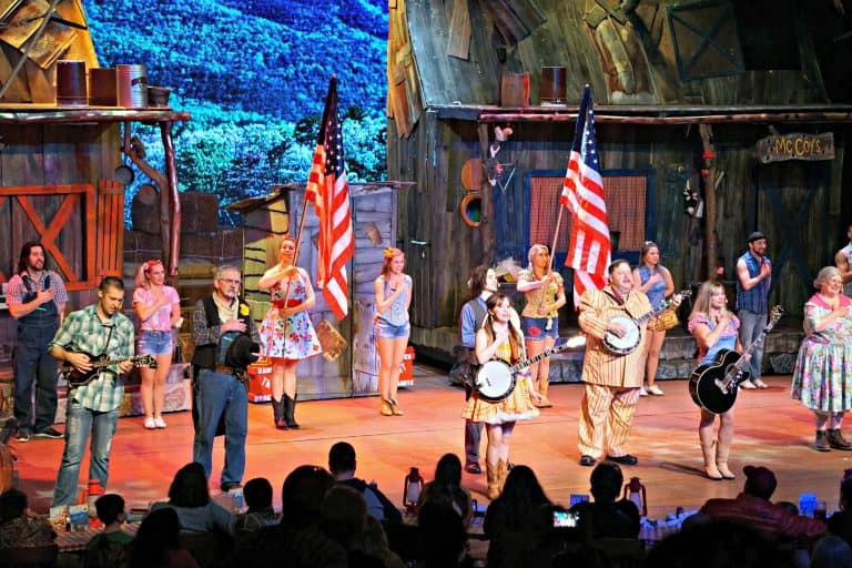 Patriotic salute at The Hatfield and McCoy Dinner Feud