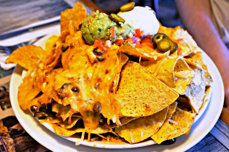 Volcano Nachos at Margaritaville Restaurant in Pigeon Forge