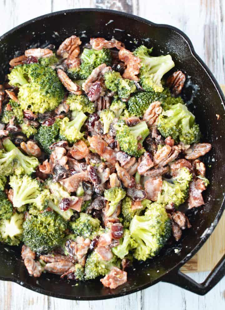 Warm Broccoli Salad With Bacon