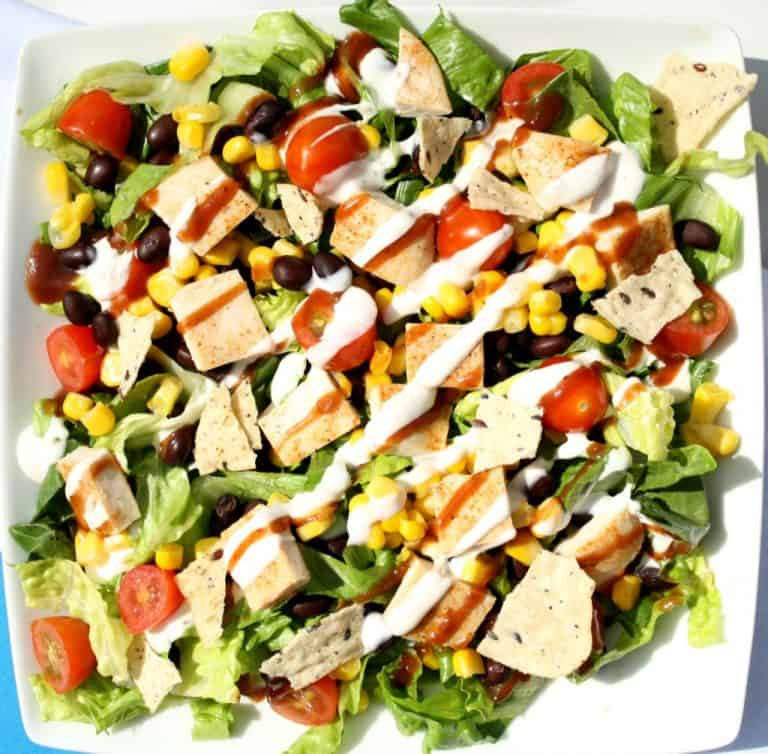 copycat version of Panera's BBQ chicken salad