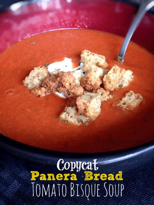 Panera's tomato soup clone