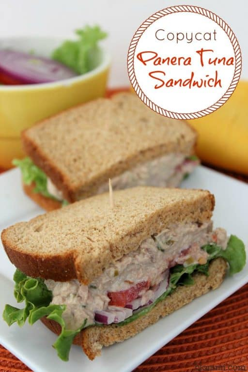 copycat tuna salad sandwich on plate