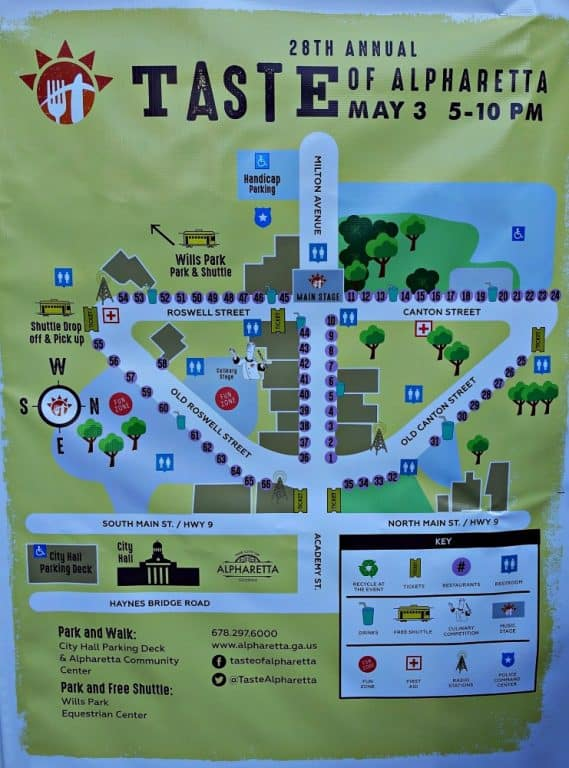 Map of Taste of Alpharetta