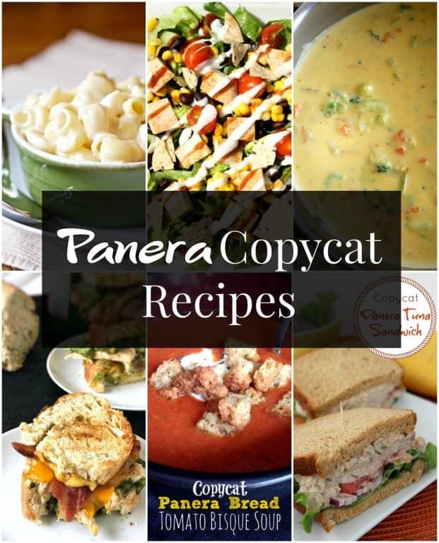 Panera Copycat Recipes collage
