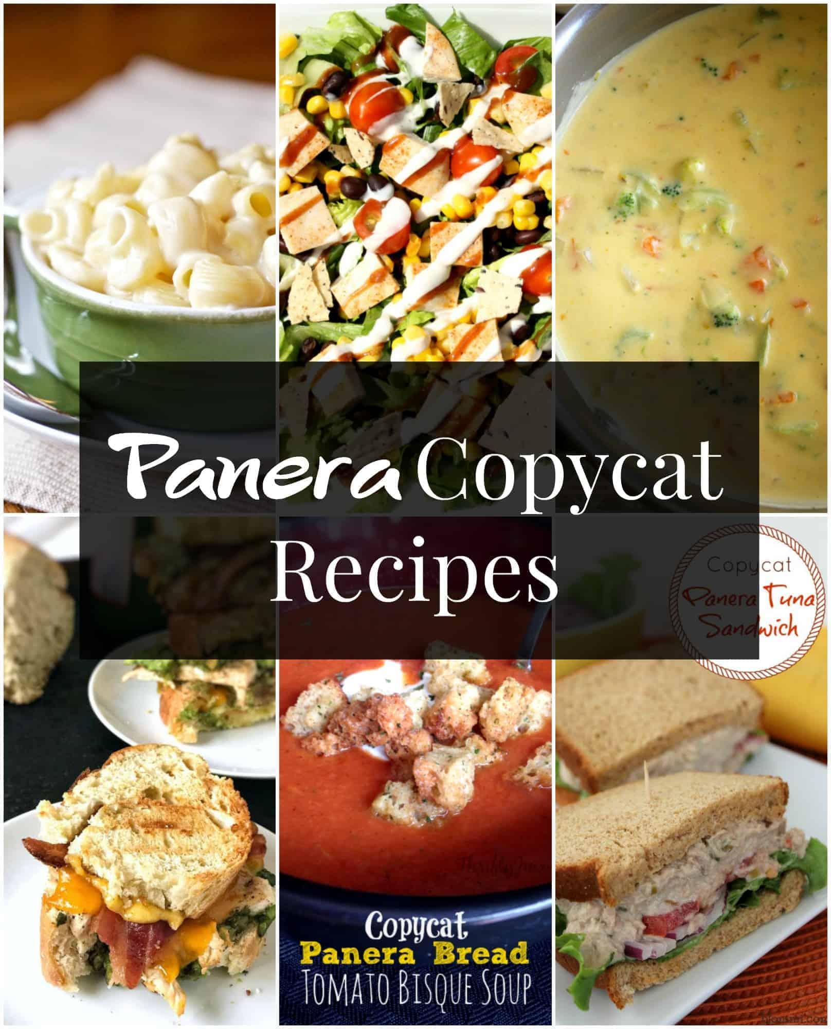 Panera copycat recipe collage