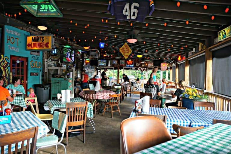 Inside the patio at Champy's