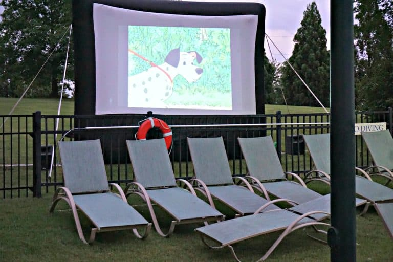 Dive-In movie at the resort