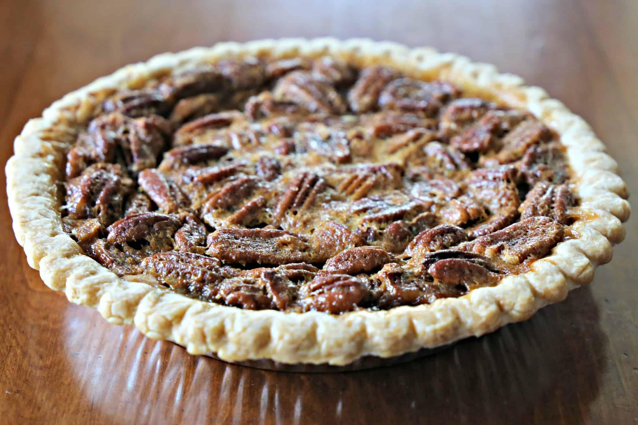 Pecan Pie on table