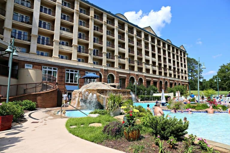 pool area of the Marriott Shoals resort