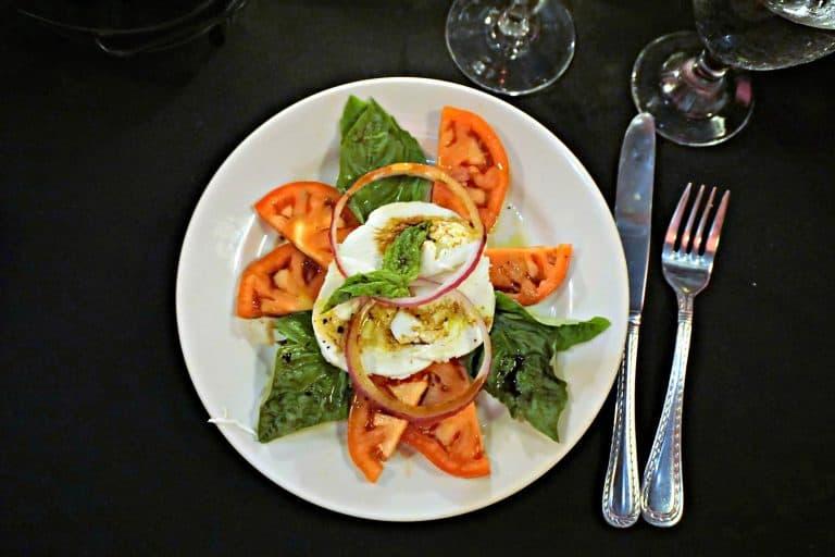 caprese salad on a plate