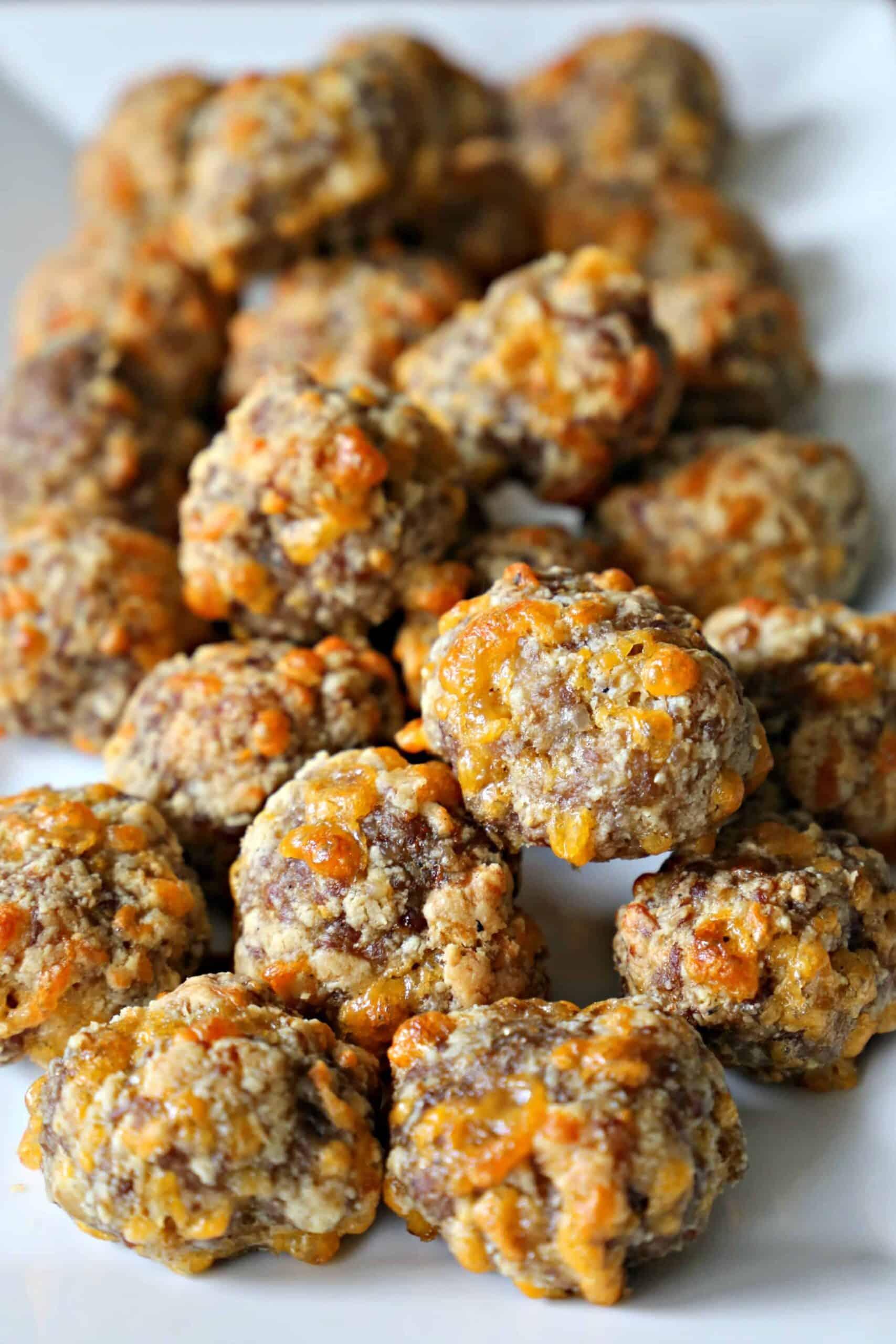 plate of sausage balls