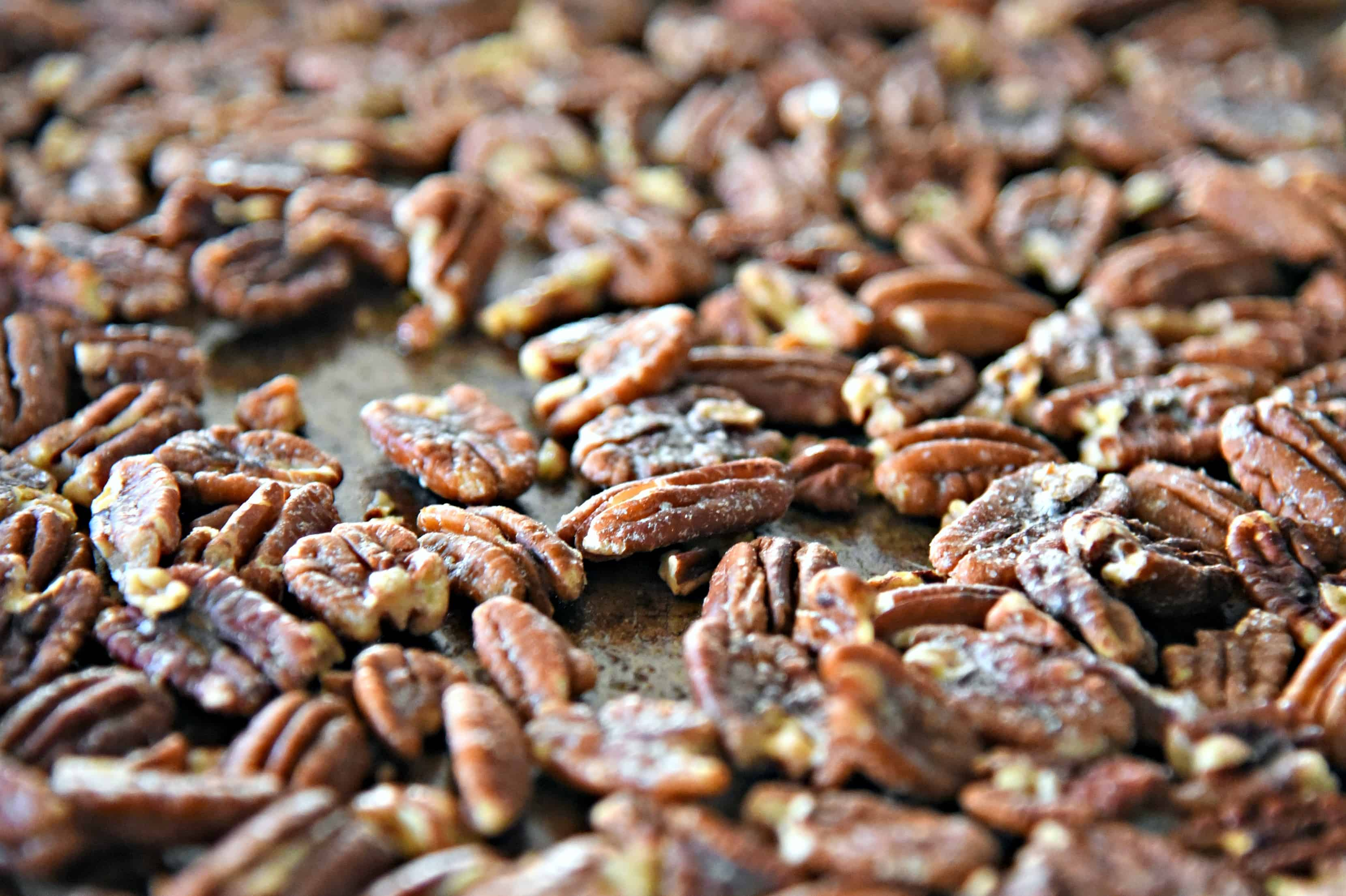 Tray of salted pecans