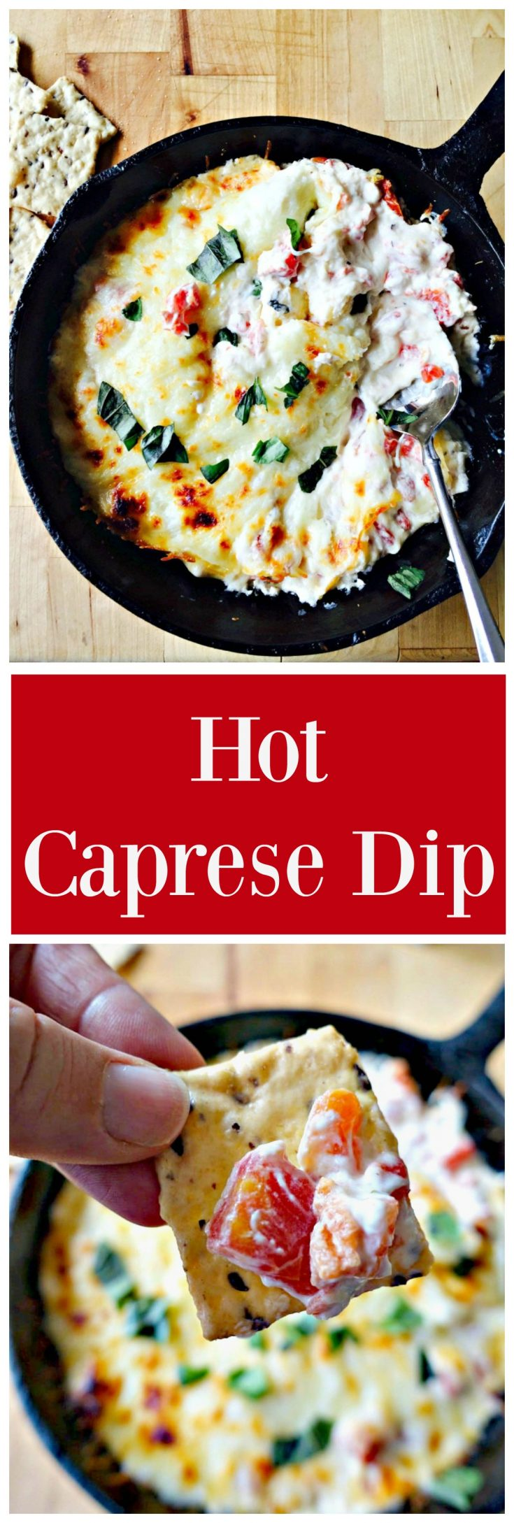This Hot Caprese Dip is like a little taste of Italy in one delicious appetizer.