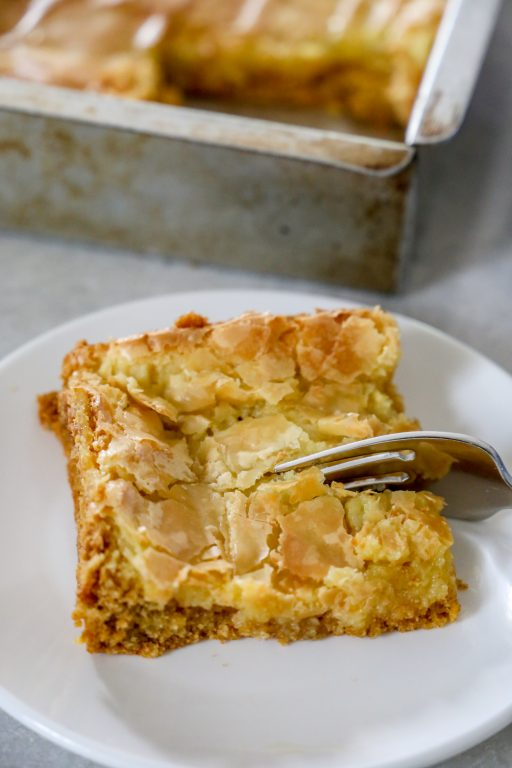 slice of ooey gooey butter cake