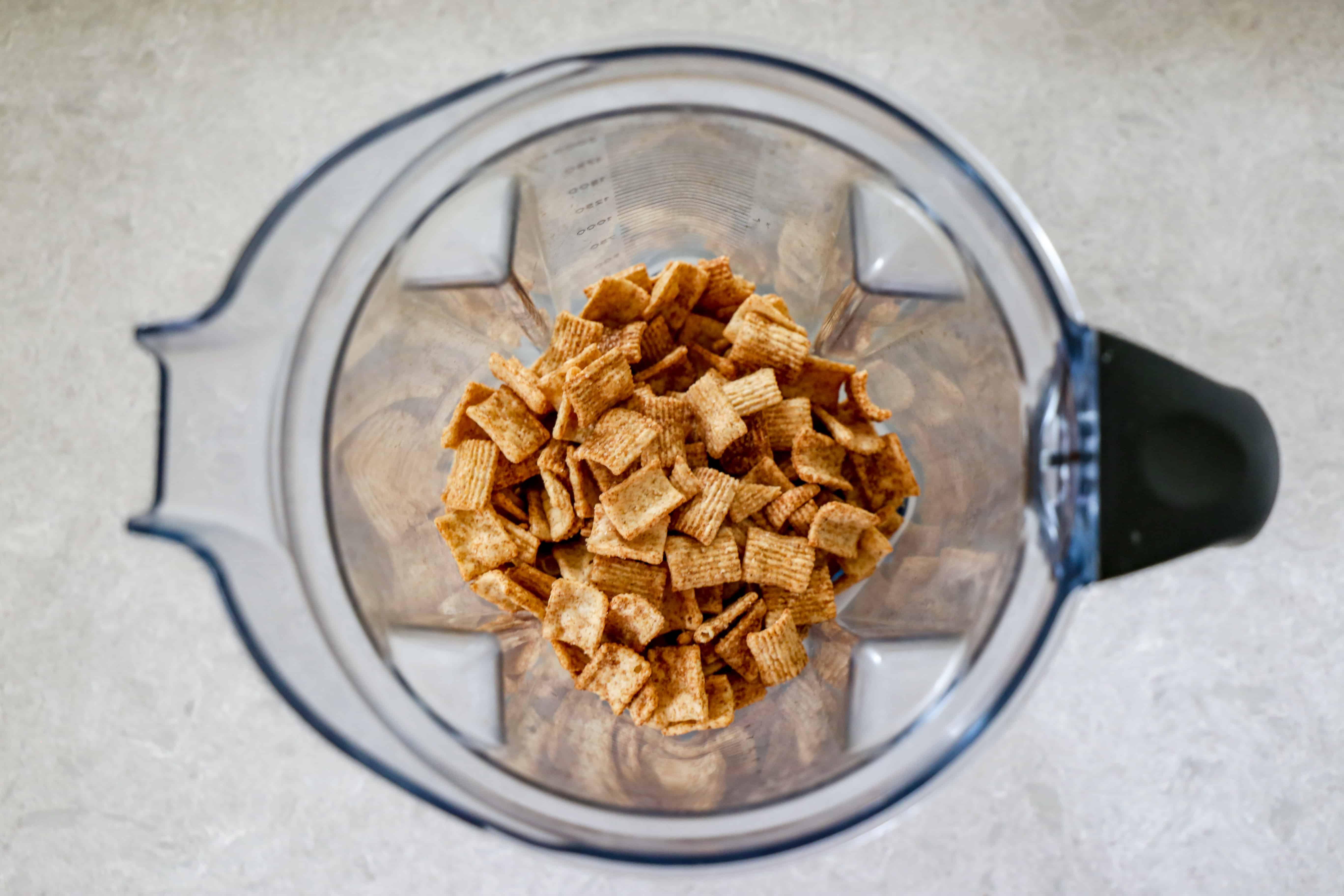cinnamon cereal in a blender