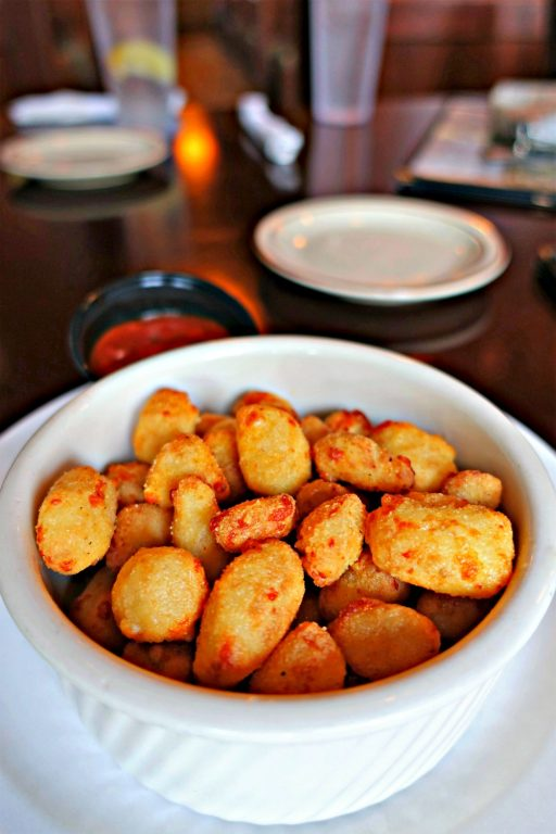 Wisconsin cheese curds in a bowl