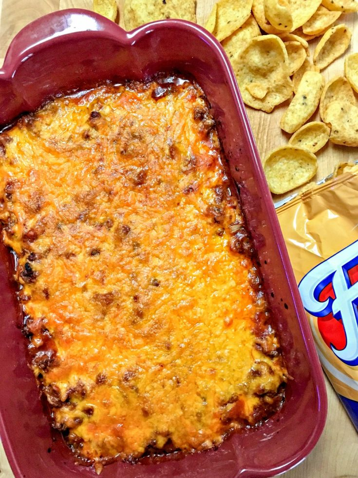 You'll score extra points with this Sloppy Joe Dip at your next tailgate or party. Get some corn chips and scoop up its cheesy, meaty deliciousness and cheer your team on to the SEC Championship!