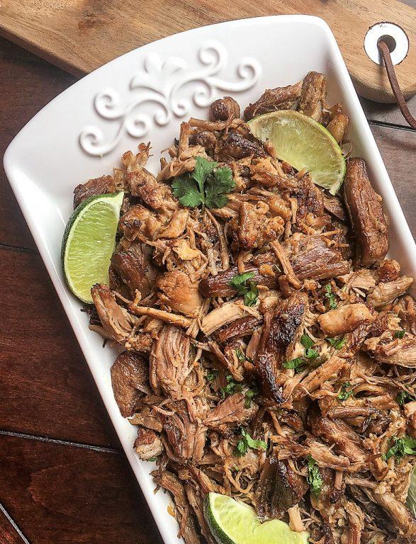 platter of pork carnitas