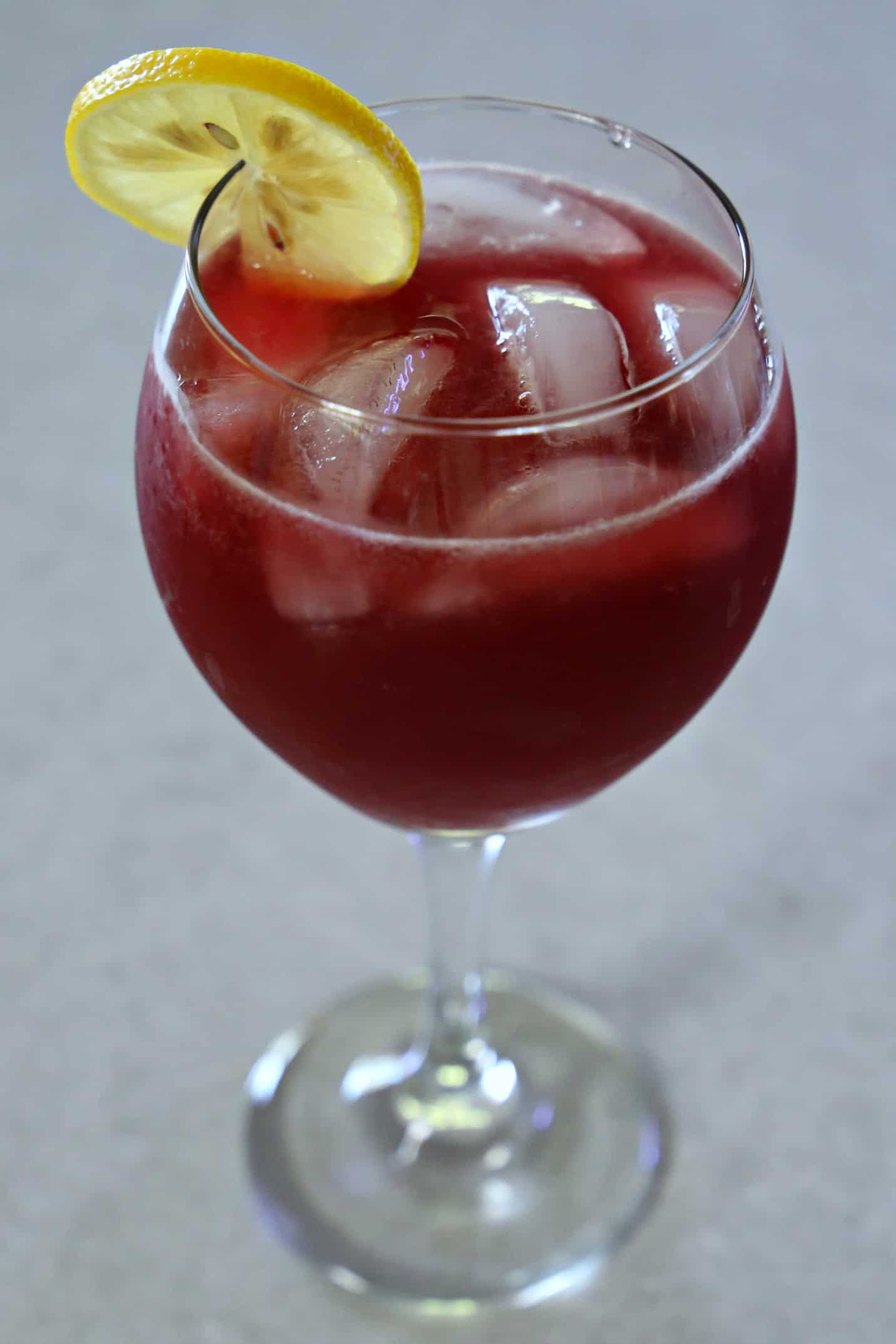 red wine cocktail in a glass