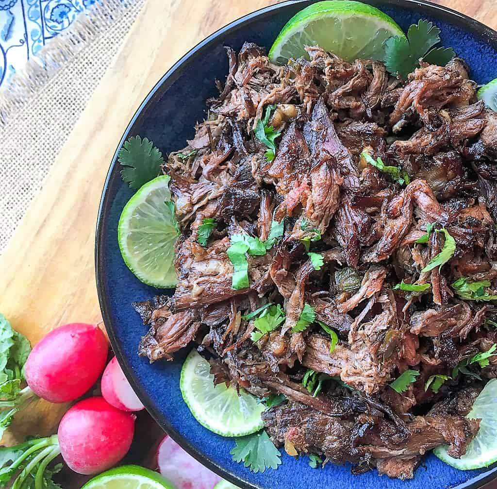 Mexican beef on a plate