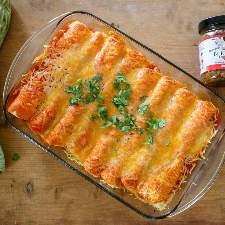 Zesty Cheesy Enchiladas