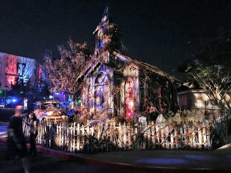 eery looking church at Universal Studios