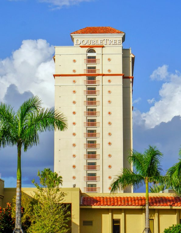 The DoubleTree Orlando at SeaWorld tower