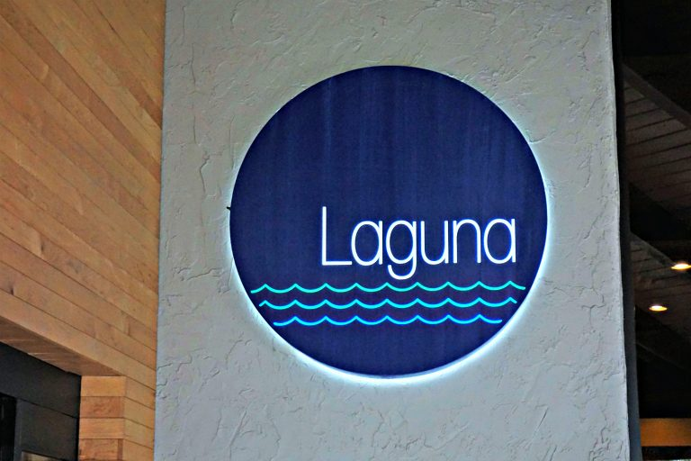 Laguna restaurant sign